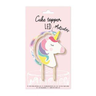 Topper per torta LED Unicorno