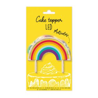 Cake topper LED Arc-en-ciel