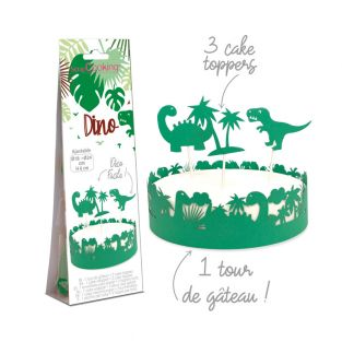 Dinosaur paper cake decorations