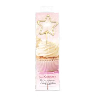 Magic candle 18,5 cm - star