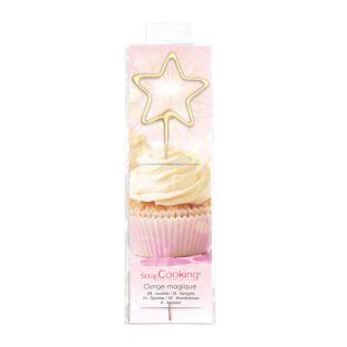 Magische Kerze 18,5 cm - Stern