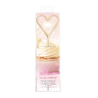Magic candle 18 cm - heart
