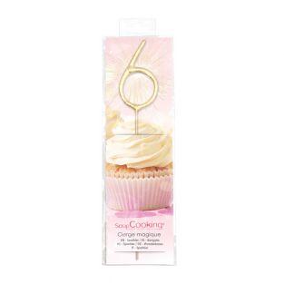 Magische Kerze 17,5 cm - Nummer 6
