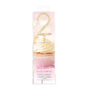 Magic candle 17,5 cm - number 2