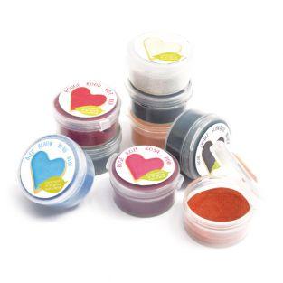 9 Mini-Lebensmittelfarbpulver...