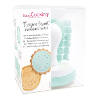 Cookie stamp with customizable message