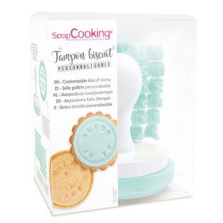 Tampon pour biscuits avec message...
