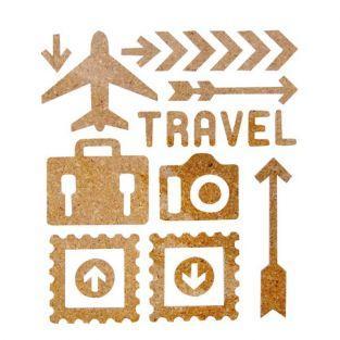 23 Stickers en liège - voyage