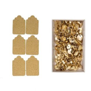 6 cork stickers Labels + 150 golden...