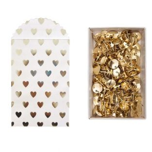 6 silver heart paper bags + 150...