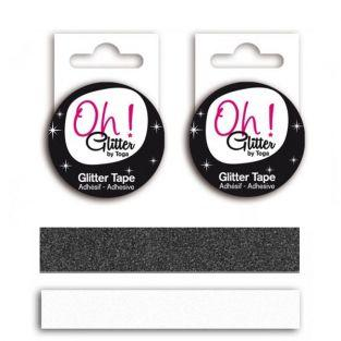 2 Masking tapes with glitter - black...