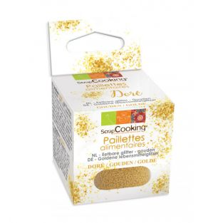 Golden edible glitter