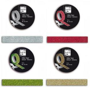 4 masking tapes con brillo