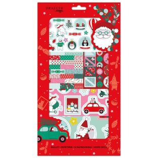 Pegatinas de navidad y kit de dados