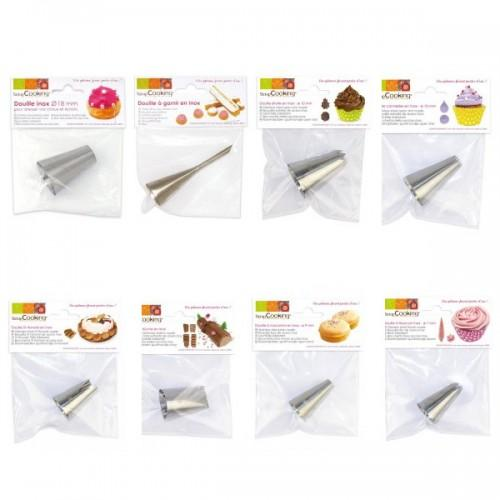 Kit 8 pastry nozzles