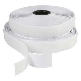 Klettband weiß 5 m x 20 mm