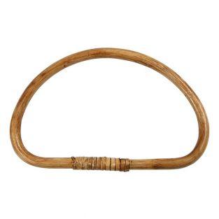 Runder Taschengriff aus Bambus - 20 x...