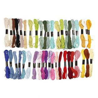 42 Cotton embroidery threads -...