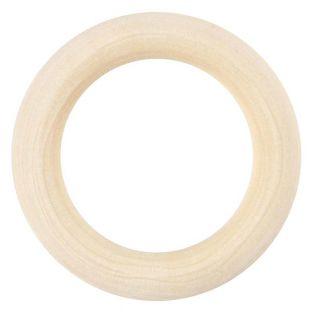 6 Anneaux en bois à décorer Ø 40 mm