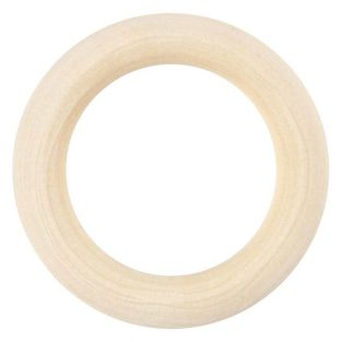 6 wooden rings to decorate Ø 40 mm