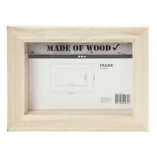 3D wooden frame - 23.2 x 18.2 x 2.5 cm
