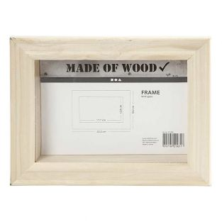 Cadre en bois 3D - 23,2 x 18,2 x 2,5 cm