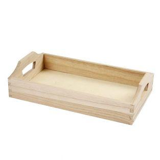 Vassoio in legno 30 x 17 x 5 cm