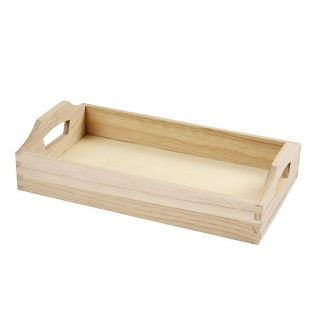 Wooden tray to decorate - 30 x 17 x 5 cm