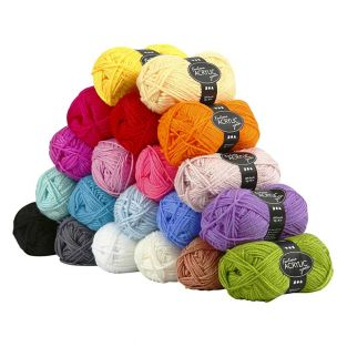 20 pelotes de laine acrylique -...