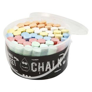 50 large chalks for floor - Assorted...