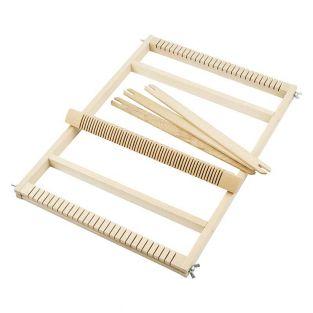 Wood weaving loom - 28 x 39 cm