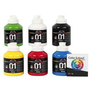 Set di colori acrilici lucidi A-Color...