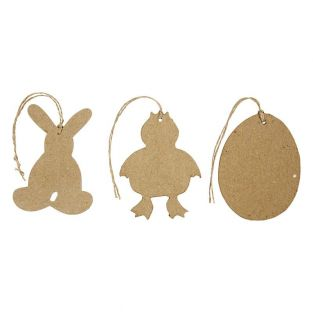 6 adornos de Pascua 10 cm - conejo,...