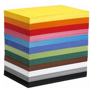 Papier cartonné coloré A4 - 1200...