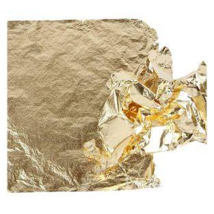 25 Imitation Gold leaves - 16 x 16 cm