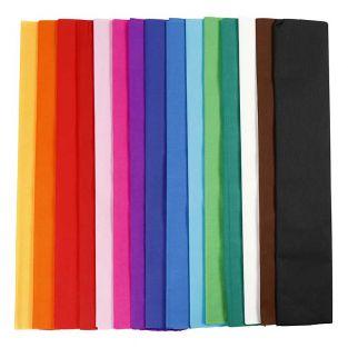 Papier crépon multicolore 2,5 m x 50...