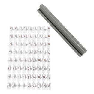 Gummistempel Alphabet und Zahlen 6 mm...