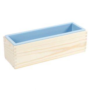 Moule à savon en bois et silicone -...