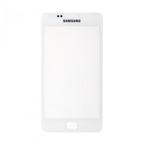 Vitre écran de façade blanche + adhésif pour Samsung Galaxy S2 I9100