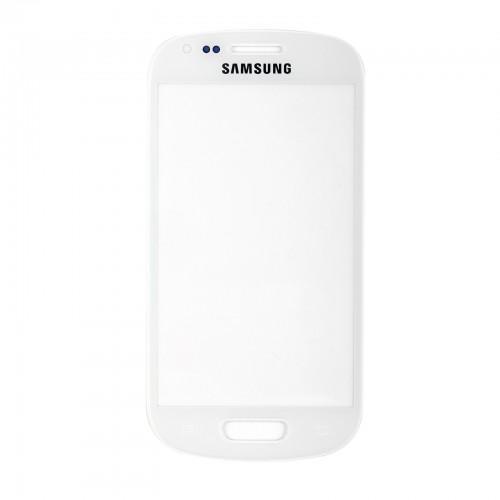 Vitre écran de façade blanche + adhésif pour Samsung Galaxy S3 mini I8190