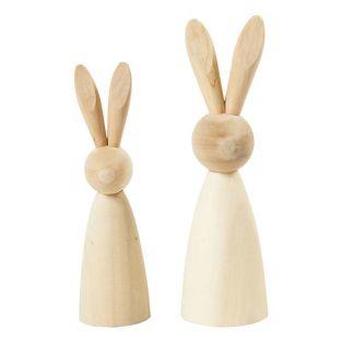 2 conigli di legno da decorare - 12 e...
