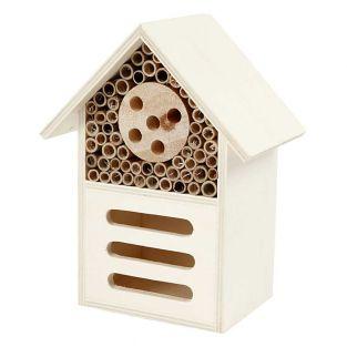 Insektenhaus aus Holz - 18 x 9 x 14 cm