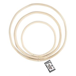 Bambus-Ring-Set - 15,3/20,3/25,5 cm -...