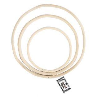 Juego de anillos de bambú -...