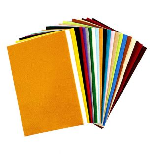 24 synthetic felt sheets 20 x 30 cm -...