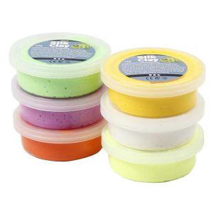 Set 6 pâtes à modeler Silk Clay -...