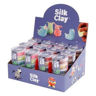 Set 12 pâtes à modeler Silk Clay -...