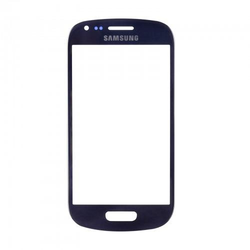 Vitre écran de façade bleue + adhésif pour Samsung Galaxy S3 mini I8190