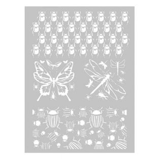 Stencil polymer clay insects 20,5 x...