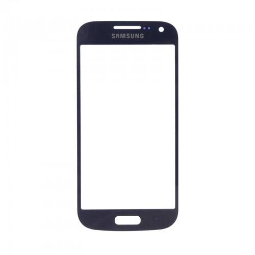 Vitre écran de façade bleue + adhésif pour Samsung Galaxy S4 mini I9190 I9195